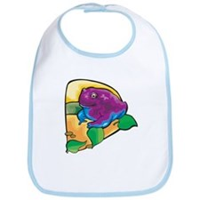 Chubby Purple Frog Bib