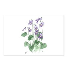 Blue Violet Postcards (Package of 8)