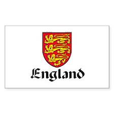 England: Heraldic Rectangle Decal