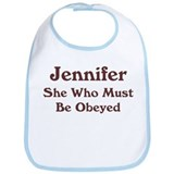 Personalized Jennifer Bib