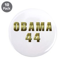 "Obama 44 3.5"" Button (10 pack)"