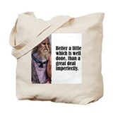 "Plato ""Little Done Well"" Tote Bag"