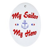 My Sailor My Hero Oval Ornament