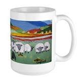 Cute Irish Sheep Scene Mug