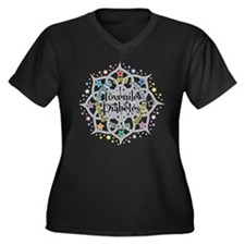 Juvenile Diabetes Lotus Women's Plus Size V-Neck D