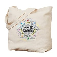 Juvenile Diabetes Lotus Tote Bag
