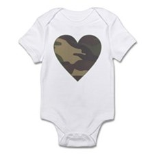 Camouflage Heart Military Valentine Infant Bodysui