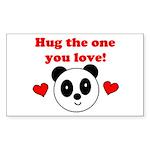 HUG THE ONE YOU LOVE Rectangle Sticker