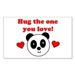 HUG THE ONE YOU LOVE Rectangle Sticker 10 pk)