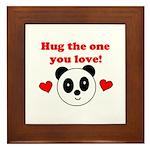 HUG THE ONE YOU LOVE Framed Tile