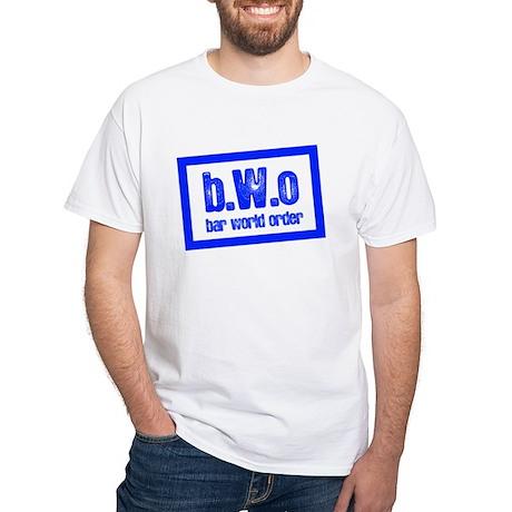 BAR WORLD ORDER White T-Shirt