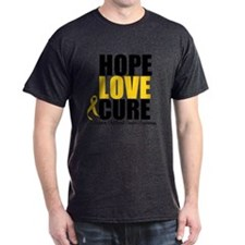 HopeLoveCure ChildhoodCancer T-Shirt