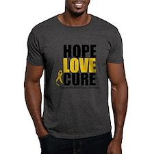 HopeLoveCure ChildhoodCancer T-Shirt