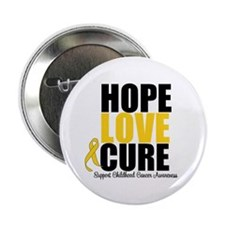 "HopeLoveCure ChildhoodCancer 2.25"" Button (10 pack"