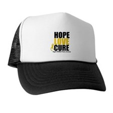 HopeLoveCure ChildhoodCancer Trucker Hat