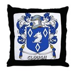 Clough Coat of Arms Throw Pillow