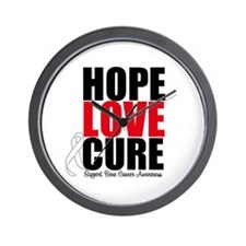 HopeLoveCure BoneCancer Wall Clock