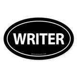 WRITER Euro Style Auto Oval Sticker -Black