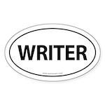 WRITER Euro Style Auto Oval Sticker -White