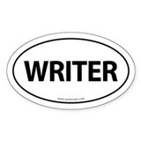 WRITER Euro Style Auto Oval Sticker -White