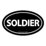 SOLDIER Euro Style Auto Oval Sticker -Black