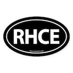RHCE Euro Style Auto Oval Sticker -Black