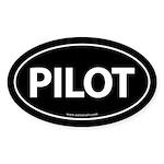 PILOT Euro Style Auto Oval Sticker -Black