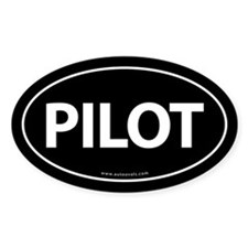 PILOT Euro Style Auto Oval Sticker -Black