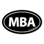 MBA Euro Style Auto Oval Sticker -Black