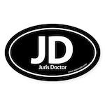 Juris Doctor Euro Style Auto Oval Sticker -Black