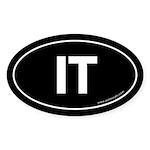 IT Euro Style Auto Oval Sticker -Black
