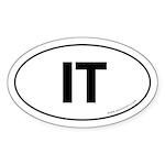 IT Euro Style Auto Oval Sticker -White