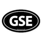 GSE Euro Style Auto Oval Sticker -Black