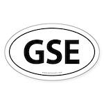 GSE Euro Style Auto Oval Sticker -White