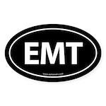 EMT Euro Style Auto Oval Sticker -Black
