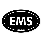 EMS Euro Style Auto Oval Sticker -Black
