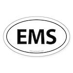 EMS Euro Style Auto Oval Sticker -White