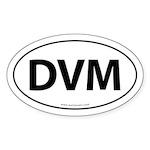 DVM Euro Style Auto Oval Sticker -White
