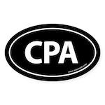 CPA Euro Style Auto Oval Sticker -Black