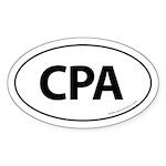 CPA Euro Style Auto Oval Sticker -White