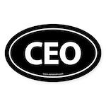 CEO Euro Style Auto Oval Sticker -Black