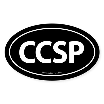 CCSP Euro Style Auto Oval Sticker -Black