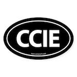 CCIE Euro Style Auto Oval Sticker -Black