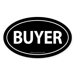 BUYER Euro Style Auto Oval Sticker -Black