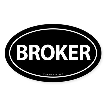 BROKER Euro Style Auto Oval Sticker -Black