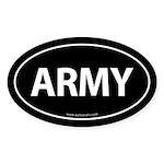 ARMY Euro Style Auto Oval Sticker -Black