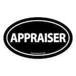 APPRAISER Euro Style Auto Oval Sticker -Black
