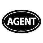 AGENT Euro Style Auto Oval Sticker -Black