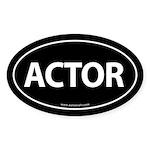 ACTOR Euro Style Auto Oval Sticker -Black