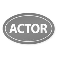 ACTOR Euro Style Auto Oval Sticker -Black